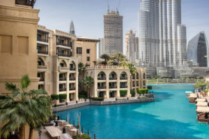 general view of residential and commercial buildings in Dubai