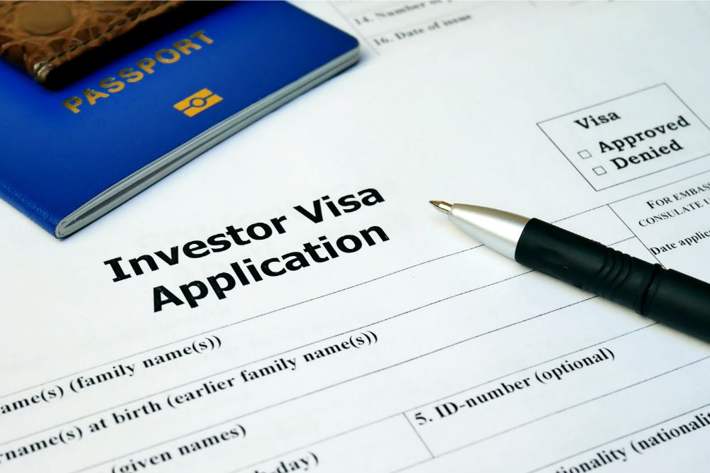 investors visa application form